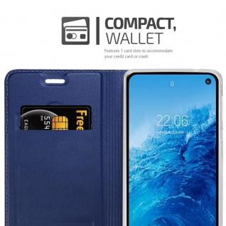 Cadorabo Hülle für Samsung Galaxy S10e in CLASSY DUNKEL BLAU - Handyhülle mit Magnetverschluss, Standfunktion und Kartenfach - Case Cover Schutzhülle Etui Tasche Book Klapp Style - Vorschau 4