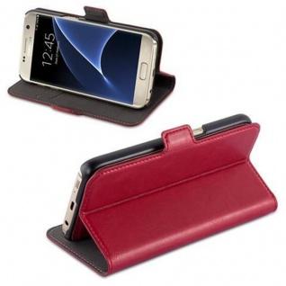 Cadorabo Hülle für Samsung Galaxy S7 - Hülle in GRANATAPFEL ROT - Handyhülle im 2-in-1 Design mit Standfunktion und Kartenfach - Hard Case Book Etui Schutzhülle Tasche Cover - Vorschau 3