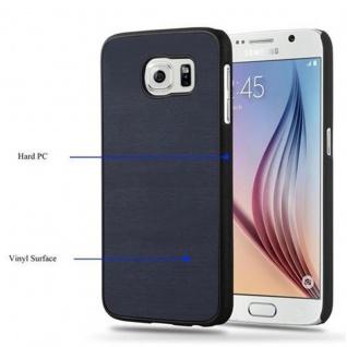 Cadorabo Hülle für Samsung Galaxy S6 in WOODY BLAU ? Hardcase Handyhülle aus Plastik gegen Kratzer und Stöße ? Schutzhülle Bumper Ultra Slim Back Case Hard Cover - Vorschau 5