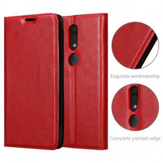 Cadorabo Hülle für Nokia 4.2 in APFEL ROT Handyhülle mit Magnetverschluss, Standfunktion und Kartenfach Case Cover Schutzhülle Etui Tasche Book Klapp Style - Vorschau 5