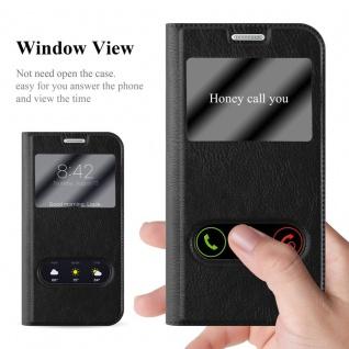 Cadorabo Hülle für Samsung Galaxy S6 EDGE PLUS in KOMETEN SCHWARZ - Handyhülle mit Magnetverschluss, Standfunktion und 2 Sichtfenstern - Case Cover Schutzhülle Etui Tasche Book Klapp Style - Vorschau 2