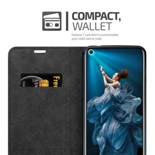 Cadorabo Hülle für Honor 20 in APFEL ROT Handyhülle mit Magnetverschluss, Standfunktion und Kartenfach Case Cover Schutzhülle Etui Tasche Book Klapp Style - Vorschau 3