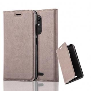 Cadorabo Hülle für WIKO UPULSE LITE in KAFFEE BRAUN - Handyhülle mit Magnetverschluss, Standfunktion und Kartenfach - Case Cover Schutzhülle Etui Tasche Book Klapp Style