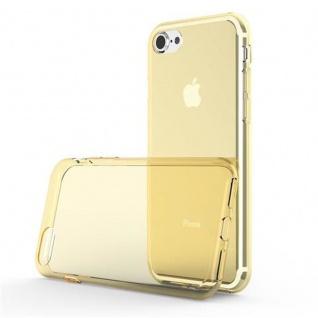 Cadorabo Hülle für Apple iPhone 7 / iPhone 7S / iPhone 8 - Hülle in TRANSPARENT GOLD ? Handyhülle aus TPU Silikon im Ultra Slim 'AIR' Design - Ultra Slim Soft Backcover Case Bumper