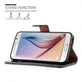 Cadorabo Hülle für Samsung Galaxy S6 in GRAPHIT SCHWARZ ? Handyhülle mit Magnetverschluss, Standfunktion und Kartenfach ? Case Cover Schutzhülle Etui Tasche Book Klapp Style - Vorschau 5