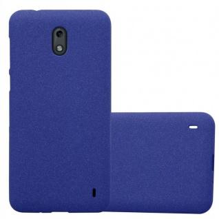 Cadorabo Hülle für Nokia 2 2017 in FROST DUNKEL BLAU - Handyhülle aus flexiblem TPU Silikon - Silikonhülle Schutzhülle Ultra Slim Soft Back Cover Case Bumper