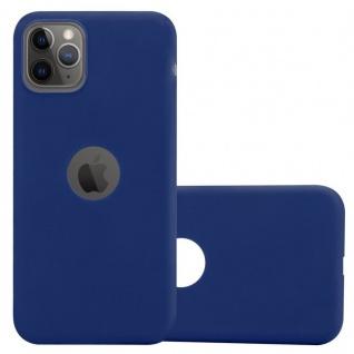 Cadorabo Hülle für Apple iPhone 11 PRO MAX (XI PRO MAX) in CANDY DUNKEL BLAU - Handyhülle aus flexiblem TPU Silikon - Silikonhülle Schutzhülle Ultra Slim Soft Back Cover Case Bumper