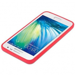 Cadorabo Hülle für Samsung Galaxy A3 2015 in CANDY ROT - Handyhülle aus flexiblem TPU Silikon - Silikonhülle Schutzhülle Ultra Slim Soft Back Cover Case Bumper - Vorschau 4