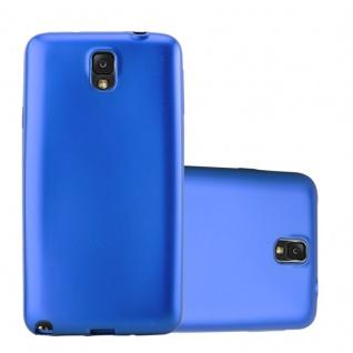 Cadorabo Hülle für Samsung Galaxy NOTE 3 in METALLIC BLAU - Handyhülle aus flexiblem TPU Silikon - Silikonhülle Schutzhülle Ultra Slim Soft Back Cover Case Bumper - Vorschau 1