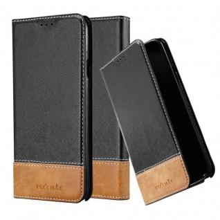 Cadorabo Hülle für Samsung Galaxy NOTE 3 NEO in SCHWARZ BRAUN ? Handyhülle mit Magnetverschluss, Standfunktion und Kartenfach ? Case Cover Schutzhülle Etui Tasche Book Klapp Style