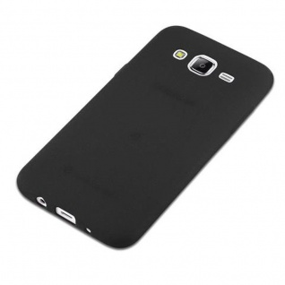 Cadorabo Hülle für Samsung Galaxy J5 2015 in FROST SCHWARZ - Handyhülle aus flexiblem TPU Silikon - Silikonhülle Schutzhülle Ultra Slim Soft Back Cover Case Bumper - Vorschau 2