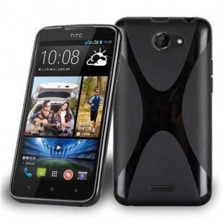 Cadorabo Hülle für HTC Desire 516 in OXID SCHWARZ ? Handyhülle aus flexiblem TPU Silikon ? Silikonhülle Schutzhülle Ultra Slim Soft Back Cover Case Bumper