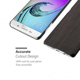 Cadorabo Hülle für Samsung Galaxy A5 2016 in WOODEN SCHWARZ - Handyhülle aus flexiblem TPU Silikon - Silikonhülle Schutzhülle Ultra Slim Soft Back Cover Case Bumper - Vorschau 3