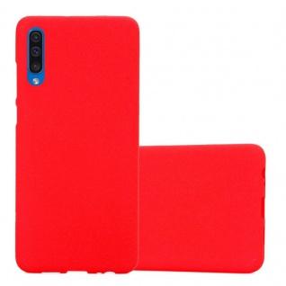 Cadorabo Hülle für Samsung Galaxy A50 in FROST ROT - Handyhülle aus flexiblem TPU Silikon - Silikonhülle Schutzhülle Ultra Slim Soft Back Cover Case Bumper