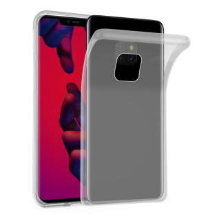 Cadorabo Hülle für Huawei MATE 20 PRO in VOLL TRANSPARENT - Handyhülle aus flexiblem TPU Silikon - Silikonhülle Schutzhülle Ultra Slim Soft Back Cover Case Bumper