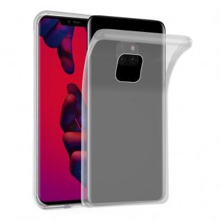 Cadorabo Hülle für Huawei MATE 20 PRO in VOLL TRANSPARENT Handyhülle aus flexiblem TPU Silikon Silikonhülle Schutzhülle Ultra Slim Soft Back Cover Case Bumper