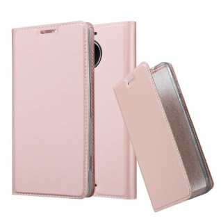 Cadorabo Hülle für Nokia Lumia 950 XL in CLASSY ROSÉ GOLD - Handyhülle mit Magnetverschluss, Standfunktion und Kartenfach - Case Cover Schutzhülle Etui Tasche Book Klapp Style