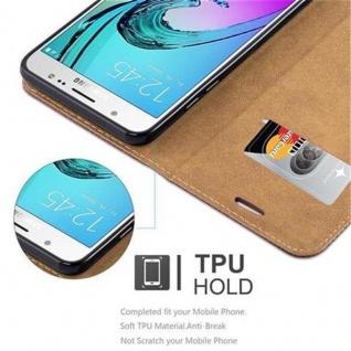 Cadorabo Hülle für Samsung Galaxy J5 2016 (6) - Hülle in KASTANIEN BRAUN - Handyhülle in Bast-Optik mit Kartenfach und Standfunktion - Case Cover Schutzhülle Etui Tasche Book Klapp Style - Vorschau 4