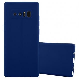 Cadorabo Hülle für Samsung Galaxy NOTE 8 in CANDY DUNKEL BLAU Handyhülle aus flexiblem TPU Silikon Silikonhülle Schutzhülle Ultra Slim Soft Back Cover Case Bumper