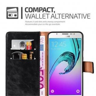 Cadorabo Hülle für Samsung Galaxy J7 2016 in GRAPHIT SCHWARZ - Handyhülle mit Magnetverschluss, Standfunktion und Kartenfach - Case Cover Schutzhülle Etui Tasche Book Klapp Style - Vorschau 3