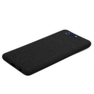 Cadorabo Hülle für Honor 9 in FROST SCHWARZ - Handyhülle aus flexiblem TPU Silikon - Silikonhülle Schutzhülle Ultra Slim Soft Back Cover Case Bumper - Vorschau 5