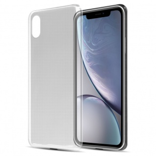 Cadorabo Hülle für Apple iPhone XR in VOLL TRANSPARENT - Handyhülle aus flexiblem TPU Silikon - Silikonhülle Schutzhülle Ultra Slim Soft Back Cover Case Bumper