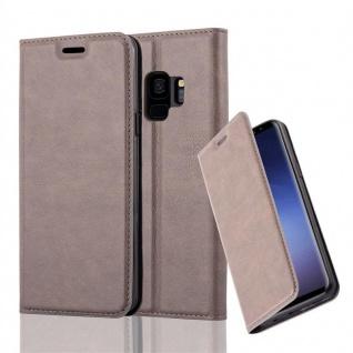 Cadorabo Hülle für Samsung Galaxy S9 in KAFFEE BRAUN Handyhülle mit Magnetverschluss, Standfunktion und Kartenfach Case Cover Schutzhülle Etui Tasche Book Klapp Style