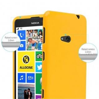Cadorabo Hülle für Nokia Lumia 625 in JELLY GELB - Handyhülle aus flexiblem TPU Silikon - Silikonhülle Schutzhülle Ultra Slim Soft Back Cover Case Bumper - Vorschau 5