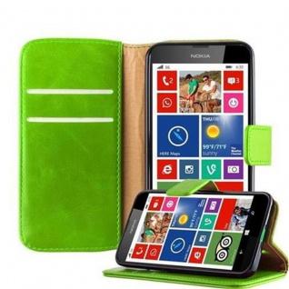 Cadorabo Hülle für Nokia Lumia 630 in GRAS GRÜN - Handyhülle mit Magnetverschluss, Standfunktion und Kartenfach - Case Cover Schutzhülle Etui Tasche Book Klapp Style