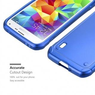 Cadorabo Hülle für Samsung Galaxy S5 Active in METALLIC BLAU - Handyhülle aus flexiblem TPU Silikon - Silikonhülle Schutzhülle Ultra Slim Soft Back Cover Case Bumper - Vorschau 5