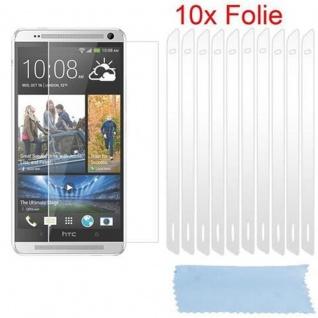 Cadorabo Displayschutzfolien für HTC ONE MAX - Schutzfolien in HIGH CLEAR ? 10 Stück hochtransparenter Schutzfolien gegen Staub, Schmutz und Kratzer