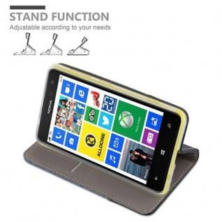 Cadorabo Hülle für Nokia Lumia 625 in DUNKEL BLAU SCHWARZ - Handyhülle mit Magnetverschluss, Standfunktion und Kartenfach - Case Cover Schutzhülle Etui Tasche Book Klapp Style - Vorschau 4