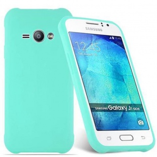 Cadorabo Hülle für Samsung Galaxy J1 ACE in CANDY BLAU - Handyhülle aus flexiblem TPU Silikon - Silikonhülle Schutzhülle Ultra Slim Soft Back Cover Case Bumper - Vorschau 2