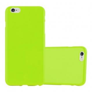 Cadorabo Hülle für Apple iPhone 6 PLUS / iPhone 6S PLUS - Hülle in JELLY GRÜN ? Handyhülle aus TPU Silikon im Jelly Design - Ultra Slim Soft Backcover Case Bumper