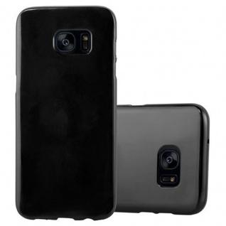 Cadorabo Hülle für Samsung Galaxy S7 EDGE in JELLY SCHWARZ ? Handyhülle aus flexiblem TPU Silikon ? Silikonhülle Schutzhülle Ultra Slim Soft Back Cover Case Bumper