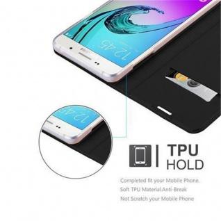 Cadorabo Hülle für Samsung Galaxy A3 2016 in CLASSY SCHWARZ - Handyhülle mit Magnetverschluss, Standfunktion und Kartenfach - Case Cover Schutzhülle Etui Tasche Book Klapp Style - Vorschau 2