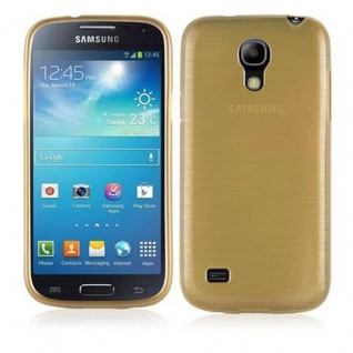 Cadorabo Hülle für Samsung Galaxy S4 MINI in GOLD - Handyhülle aus flexiblem TPU Silikon - Silikonhülle Schutzhülle Ultra Slim Soft Back Cover Case Bumper