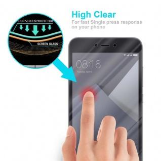 Cadorabo Panzer Folie für Xiaomi Red Mi NOTE 5A - Schutzfolie in KRISTALL KLAR - Gehärtetes (Tempered) Display-Schutzglas in 9H Härte mit 3D Touch Kompatibilität - Vorschau 5