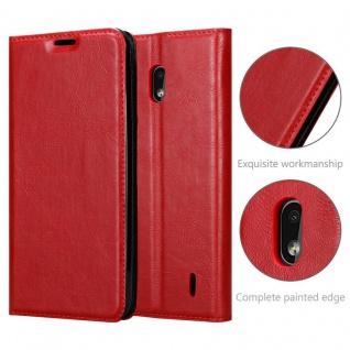 Cadorabo Hülle für Nokia 2.2 in APFEL ROT - Handyhülle mit Magnetverschluss, Standfunktion und Kartenfach - Case Cover Schutzhülle Etui Tasche Book Klapp Style - Vorschau 5