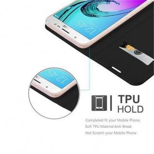Cadorabo Hülle für Samsung Galaxy J5 2016 in CLASSY SCHWARZ - Handyhülle mit Magnetverschluss, Standfunktion und Kartenfach - Case Cover Schutzhülle Etui Tasche Book Klapp Style - Vorschau 2