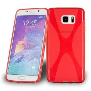 Cadorabo Hülle für Samsung Galaxy NOTE 5 in INFERNO ROT Handyhülle aus flexiblem TPU Silikon Silikonhülle Schutzhülle Ultra Slim Soft Back Cover Case Bumper