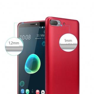 Cadorabo Hülle für HTC Desire 12 PLUS in METALLIC ROT - Handyhülle aus flexiblem TPU Silikon - Silikonhülle Schutzhülle Ultra Slim Soft Back Cover Case Bumper - Vorschau 4