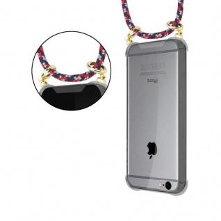 Cadorabo Handy Kette für Apple iPhone 6 PLUS / iPhone 6S PLUS in ROT BLAU WEISS - Silikon Necklace Umhänge Hülle mit Gold Ringen, Kordel Band Schnur und abnehmbarem Etui ? Schutzhülle - Vorschau 5