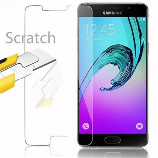 Cadorabo Panzer Folie für Samsung Galaxy A5 2016 - Schutzfolie in KRISTALL KLAR - Gehärtetes (Tempered) Display-Schutzglas in 9H Härte mit 3D Touch Kompatibilität - Vorschau 2