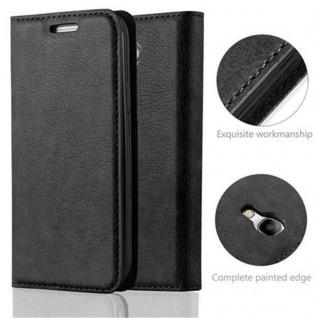 Cadorabo Hülle für Samsung Galaxy S4 MINI in NACHT SCHWARZ - Handyhülle mit Magnetverschluss, Standfunktion und Kartenfach - Case Cover Schutzhülle Etui Tasche Book Klapp Style - Vorschau 2