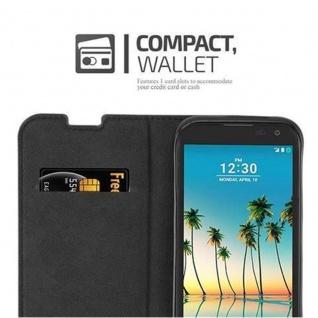 Cadorabo Hülle für LG K3 2017 in NACHT SCHWARZ - Handyhülle mit Magnetverschluss, Standfunktion und Kartenfach - Case Cover Schutzhülle Etui Tasche Book Klapp Style - Vorschau 5