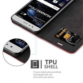 Cadorabo Hülle für Huawei P10 LITE in APFEL ROT Handyhülle mit Magnetverschluss, Standfunktion und Kartenfach Case Cover Schutzhülle Etui Tasche Book Klapp Style - Vorschau 3