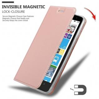 Cadorabo Hülle für Nokia Lumia 1320 in CLASSY ROSÉ GOLD - Handyhülle mit Magnetverschluss, Standfunktion und Kartenfach - Case Cover Schutzhülle Etui Tasche Book Klapp Style - Vorschau 3