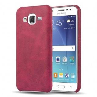 Cadorabo Hülle für Samsung Galaxy J5 2015 (5) - Hülle in VINTAGE ROT ? Hardcase Handyhülle aus Kunstleder - Schutzhülle Bumper Back Case Cover