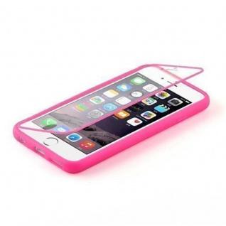 Cadorabo - TPU Silikon Schutzhülle (Full Body Rund-um-Schutz auch für das Display) für Apple iPhone 4 / iPhone 4S in HOT PINK